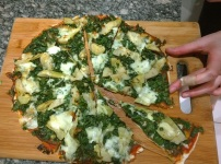 Kale & Artichoke Heart Pizza